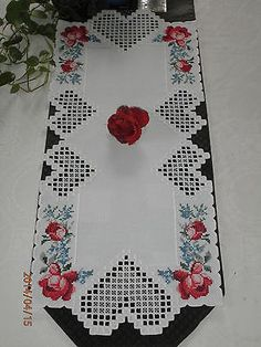 Hardanger Table Runner | eBay