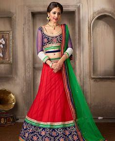 Buy Beautiful Red Lehenga Choli online at  https://www.a1designerwear.com/beautiful-red-lehenga-choli-8  Price: $61.31 USD
