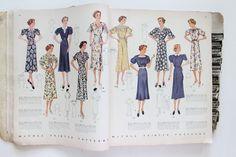 Mode de Lis: 1939 Pattern Book, 1941 Fashion Booklet, and Paper Ephemera · Estate Sale Findings