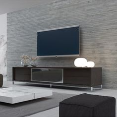 Wenge finish Lexington Entertainment Center & Modloft Entertainment Center | YLiving