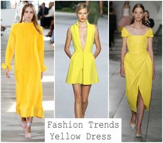 Κίτρινο χρώμα! Το είδαμε στην εβδομάδα μόδας της Νέας Υόρκης, του Παρισιού, του Μιλάνο, του Λονδίνου, που σημαίνει ότι ήρθε για να μείνει. Από έντονο καναρινί και μουσταρδί μέχρι απαλό κίτρινο, διάλεξα τα καλύτερα φορέματα για να επιλέξετε αυτό που σας ταιριάζει. One Shoulder, Shoulder Dress, Yellow Dress, Fashion Trends, Dresses, Vestidos, Yellow Gown, The Dress, Dress