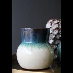 Dipped Ceramic Aqua Vase - View All - Home Accessories