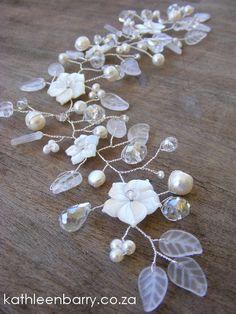 Willow collection Sophia Hair Vine by KathleenBarryJewelry, #wedding #bridal…