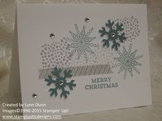 November 2014 Paper Pumpkin ~ Simply Snowflake #paperpumpkin #kit #stampinup #stamptasticdesigns