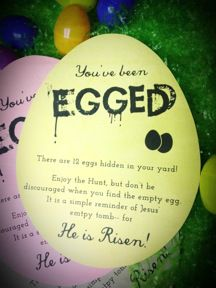 Fun idea for an Easter outreach!