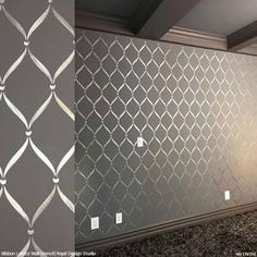 Ribbon Lattice Wall Stencils for Decorating Home Decor – Royal Design Studio Stencils