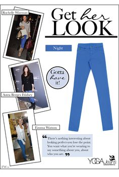 Yoga Jeans™ in NIGHT #fashion #fall #denim #color