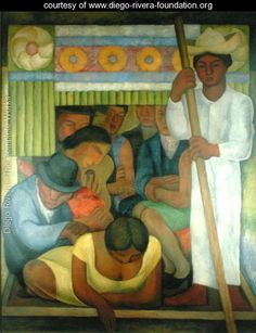 The Flowered Canoe, 1931 - Diego Rivera - www.diego-rivera-foundation.org