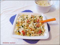 Paste cu sos și dovlecei Paste, Fried Rice, Fries, Ethnic Recipes, Food, Essen, Meals, Nasi Goreng, Yemek