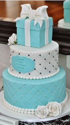 Pretty tiffany cake