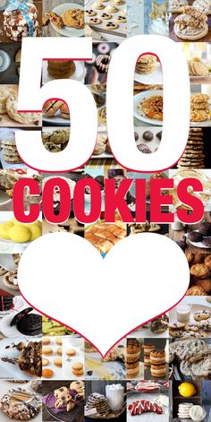 Bake with LOVE! 50 Unique Cookie Recipes - http://www.berries.com/blog/cookie-recipes #baking #recipes #cookies