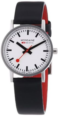 Women's Wrist Watches - Mondaine Womens A6583032311SBB Quartz Classic Leather Band Watch ** Want additional info? Click on the image.