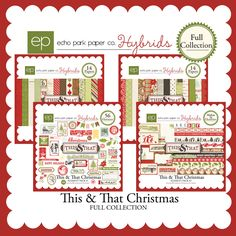"The ""This & That Christmas"" collection's warm wood tones, traditional colors, and vintage elements offer the same beautiful styling as previous lines, but with a holiday twist. This kit includes the entire This & That Christmas Collection."