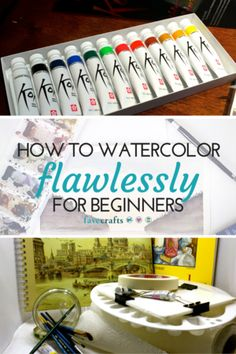 Learn everything you need to know about watercolor painting with this how to watercolor tutorial. From basic supplies to watercolor techniques, this article as it all - including how to water to use to make the perfect painting.