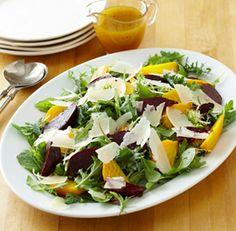 Roasted Beet Salad with Romaine and Vanilla–Citrus Vinaigrette