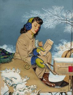 Mainstream Illustration, ALEXANDER SHARPE ROSS (American, 1908-1990). Getting the Mail,  Saturday Evening Post cover, January 29, 1944.