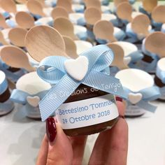 "Terry D.💕👩🏻 su Instagram: ""Tante nutelline por Tommaso💙La Nutella da... Christmas On A Budget, Christmas Ad, Unique Christmas Gifts, All Things Christmas, Christmas Crafts, Bridal Shower Favors, Party Favors, Christmas Vacation Shirts, Nutella Jar"