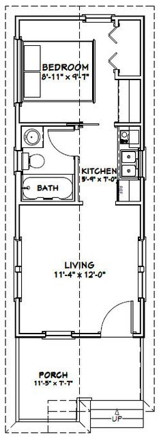 12x30 Tiny House -- #12X30H1A -- 358 sq ft - Excellent Floor Plans