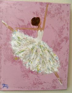 Ballerina painting by COMEandPLAY on Etsy, $95.00