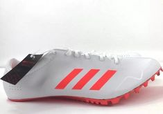 half off b0caa 508af ADIDAS ADIZERO PRIME SPRINT SP SPIKE TRACK FIELD SHOES WHITE RED SIZE 13  adidas