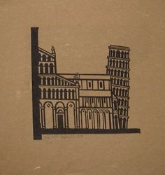 Pisa by Willie Rodger   Linocut