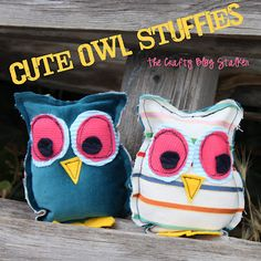 My next craft Cute Owl Stuffies - Filled with rice so can sit on a shelf or put in the microwave to help keep you warm