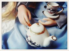 Amelia loves a spot of afternoon tea, won't you join her? She even has her very own china tea set.