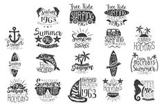 Surfing Holidays Vintage Label by TopVectors on @creativemarket