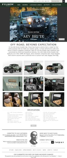 Jeep Thrills The Filson AEV Brute. It's a mother.