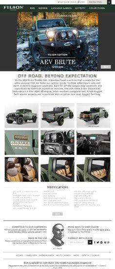 Jeep, The Filson AEV Brute. Boom.