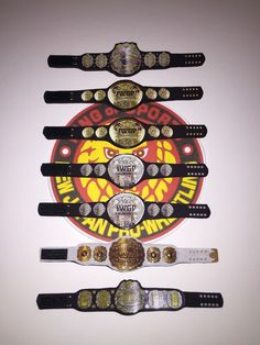 IWGP Custom New Japan Title Belt Fit Mattel by FiguresandBelts