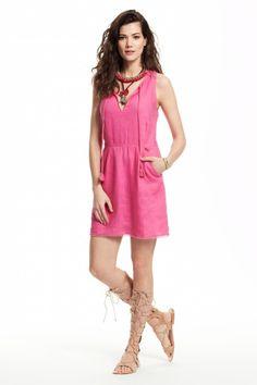 Galia Linen Trim Dress.
