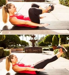 90-Degree Static Press: This is a great way to wake up your core at the beginning of your workout or as a stand-alone exercise any time you want to squeeze in some extra abs work. How to do it: Lie faceup with your knees and hips bent 90 degrees, feet fle