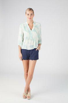 Katie blouse in Marble print - Annie Griffin Spring '14