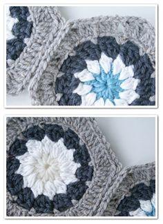 Hexagon daisy. Freepattern
