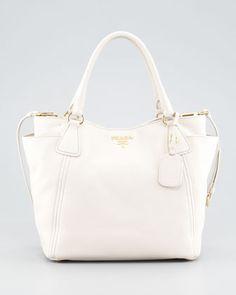 Daino Double-Pocket Tote Bag, Talco by Prada at Neiman Marcus.
