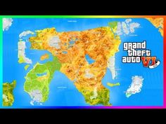 nice GTA 6 ULTIMATE World Expansion Map Concept Featuring 8 MASSIVE ...