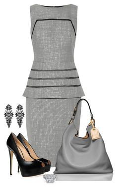 Untitled #688 by shanasark on Polyvore featuring polyvore, fashion, style, Lela Rose, Giuseppe Zanotti, Reed Krakoff, sweet deluxe and clothing