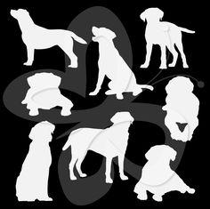 labrador silhouette clip art   Labrador Silhouette Clipart
