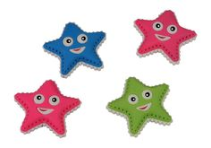"""24-er Set. Diese süßen Sternchen helfen Rechtschreibfehler oder misslungene Striche von Bleistiften zu beheben! Das Tolle an den Radiergummis - die """"Masken"""" der Sterne sind untereinander austauschbar und kleine Schriftgelehrte können ihre Radierer variabel gestalten! ca. 4 x 4 x 1,5 cm"""