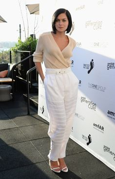 Leigh looking incredibly chic in neutrals. NYC #LeighLezark