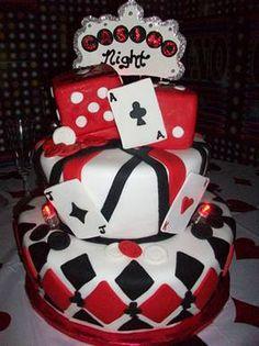Casino Night Bridal Shower Cake