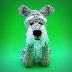 Schnauzer de Crochê Crochet dog amigurumi