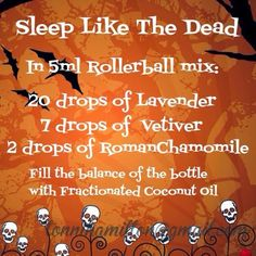 Sleeping blend Scent Sisters Wellness: Halloween Rollerballs