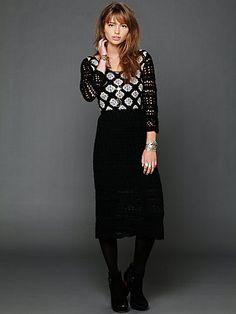 """""""Spirit Water"""" Crochet Maxi Dress."""