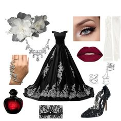 off to the ball by polyvorefashionfanatic on Polyvore featuring Reception, Oscar de la Renta, Parinda, Charlotte Russe, Bling Jewelry, Carolina Amato, Smashbox and Christian Dior