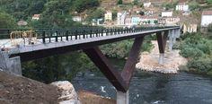 El puente de Os Peares, este viernes, todavía en obras