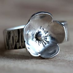Sterling Silver Ring Flower Ring Boho Jewelry Silver Rings