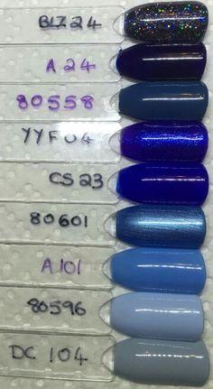 Bluesky blues Gel Polish Colors, Gel Nail Polish, Nail Colors, Gel Nails, Shellac, Bluesky Gel Polish Swatches, Bluesky Nails, Purple Acrylic Nails, Glittery Nails