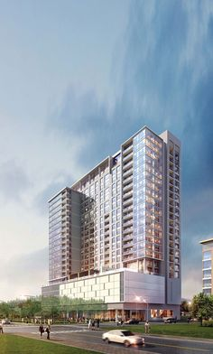 The Southmore – Properties – Hines Condominium Architecture, Office Building Architecture, Building Facade, Facade Architecture, Building Design, Building Skin, Glass Building, Exterior Rendering, Commercial Architecture